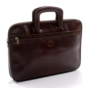 Tony Perotti Italico Genoa Leather Laptop Briefcase; Brown