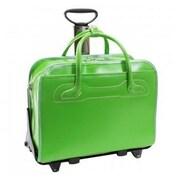 McKlein USA W Series Willowbrook Leather Laptop Briefcase; Green