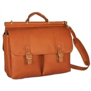 David King Dowel Leather Laptop Briefcase; Tan