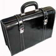 Floto Imports Trastevere Leather Laptop Briefcase; Black