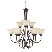 Capital Lighting Hometown 9 Light Chandelier