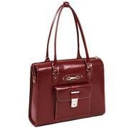 McKlein USA W Series River Forest Leather Laptop Briefcase; Red