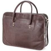 Clava Leather Leather Laptop Briefcase; Caf