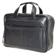 Netpack Business Leather Laptop Briefcase; Black
