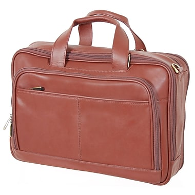 Netpack Business Leather Laptop Briefcase; Brown