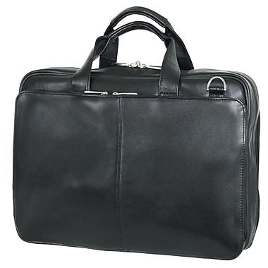 Netpack Business Leather Laptop Briefcase; Black