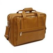 Piel Entrepreneur Ultra Compact Leather Laptop Briefcase; Saddle