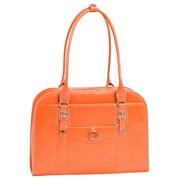 McKlein USA W Series Hillside ' Laptop Leather Briefcase; Orange