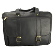 David King Leather Laptop Briefcase; Caf  / Dark Brown