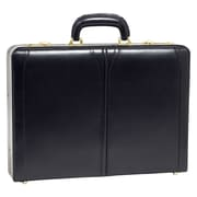 McKlein USA V Series Lawson Leather Attache Case; Black