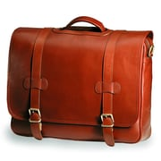 Clava Leather Bridle Executive Porthole Leather Laptop Briefcase; Bridle Cognac