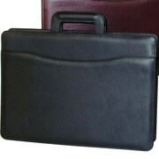 Stebco Sleek Leather Briefcase; Black