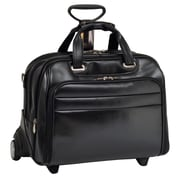 McKlein USA R Series Midway Leather Laptop Catalog Case; Black