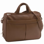 Royce Leather Genuine Leather Laptop Shoulder Bag Briefcase; Chocolate