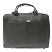 Piel Slim Modern Portfolio Laptop Briefcase; Black