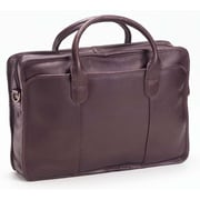 Clava Leather Colored Vachetta Classic Top Handle Leather Laptop Briefcase; Caf