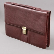 Dr. Koffer Fine Leather Accessories Dana Compact Leather Laptop Briefcase; Brown
