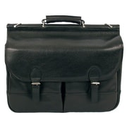 Dr. Koffer Fine Leather Accessories Gregory Leather Laptop Briefcase; Venetian Black