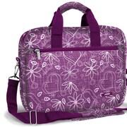 J World Executive Laptop Briefcase; Love Purple