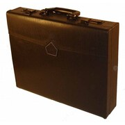 Bond Street Professional Leather Laptop Attache Case; Brown