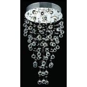 Elegant Lighting Galaxy 6 Light LED  Chandelier; Elegant Cut