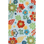 KAS Rugs Sonesta Light Blue Retro Area Rug; 1'8'' x 2'6''
