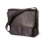 Clava Leather Vachetta Executive Laptop Sling Laptop Briefcase; Caf