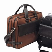 Bellino The Trans Continental Leather Laptop Briefcase; Rust