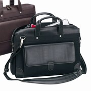 Preferred Nation Bellino Laptop Briefcase; Black