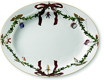 Royal Copenhagen Star Fluted Christmas Oval Platter WYF078277960488