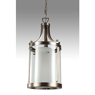 DVI Essex 1 Light Drum Pendant; Oil Rubbed Bronze with Butterscotch Glass Shade