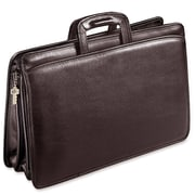 Jack Georges University Triple Gusset Leather Briefcase; Brown
