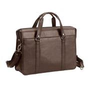 Bellino Bellino The Insider Leather Laptop Briefcase; Brown