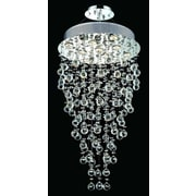 Elegant Lighting Galaxy 9 Light LED  Chandelier; Elegant Cut