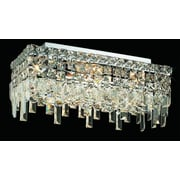 Elegant Lighting Maxim 4 Light Semi Flush Mount; 16'' / Strass Swarovski