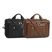 McKlein USA S Series River West Leather Laptop Briefcase; Brown