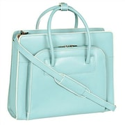 McKlein USA W Series Lake Forest Leather Laptop Briefcase; Aqua Blue
