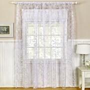 Elrene Home Fashions Berkshire Window Curtain Panel; White