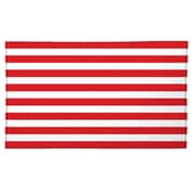 Pro-Towels Midweight Cabana Beach Towel; Red White