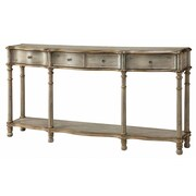 Crestview Victoria 3 Drawer Console Table