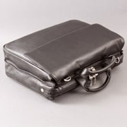Dr. Koffer Fine Leather Accessories Marvin Leather Laptop Briefcase; Karelia Black
