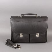 Dr. Koffer Fine Leather Accessories Larry Leather Laptop Briefcase