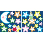 WallPops! Home Decor Line Smiling Stars Glow in The Dark Wall Decal