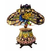 Warehouse of Tiffany Peacock Lantern 23'' H Table Lamp with Bowl Shade