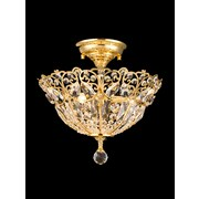 Dale Tiffany Crossgrove 3 Light Semi Flush Mount