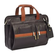 RobertMyers Portfolio Laptop Briefcase; Brown/Tan