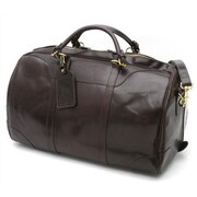 Mulholland Brothers Weekend Bags 21'' Medium Leather Hippo Travel Duffel; Stout