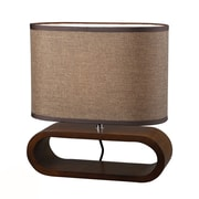 Dimond Lighting HGTV Home 12'' H Table Lamp with Oval Shade; LED
