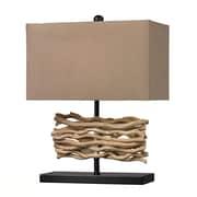 Dimond Lighting HGTV Home Voyage Neach 21'' H Table Lamp with Rectangular Shade; LED
