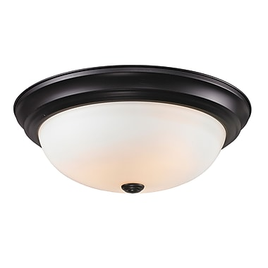 Z-Lite Athena 3 Light Flush Mount; Matte Opal